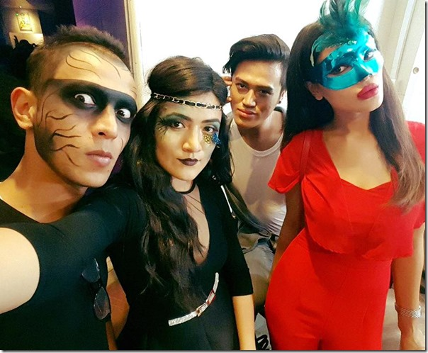 shristi shrestha and friends halloween 2015