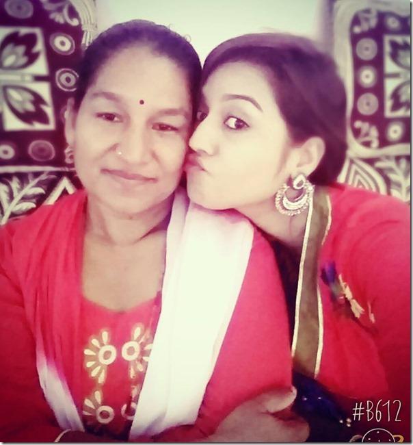surabina karki with mom diwali