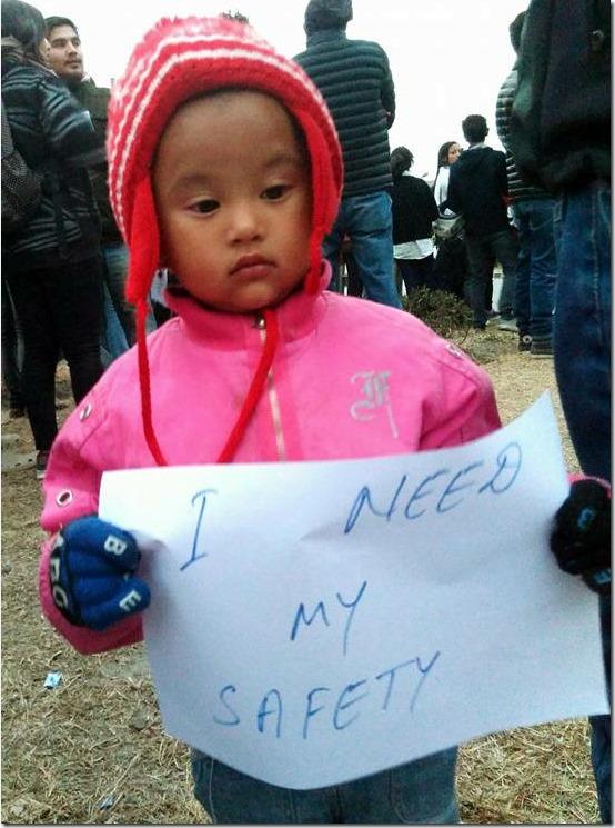 Neha pun remembrance a child demanding safety