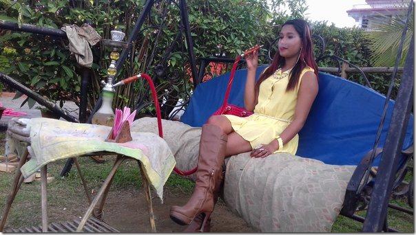 archana paneru in Pokhara during the shooting of Jism