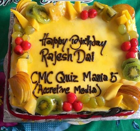 rajesh hamal birthday cake