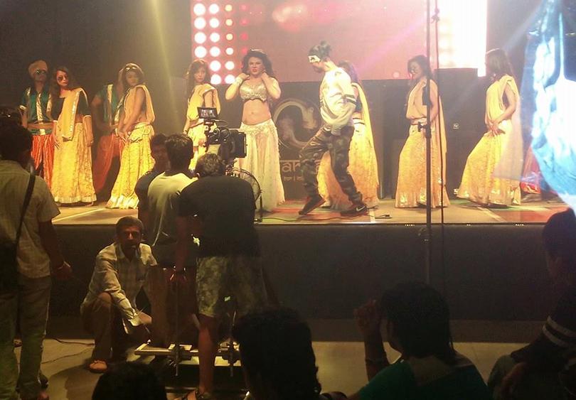 rakhi sawant item dance shooting in kathmandu