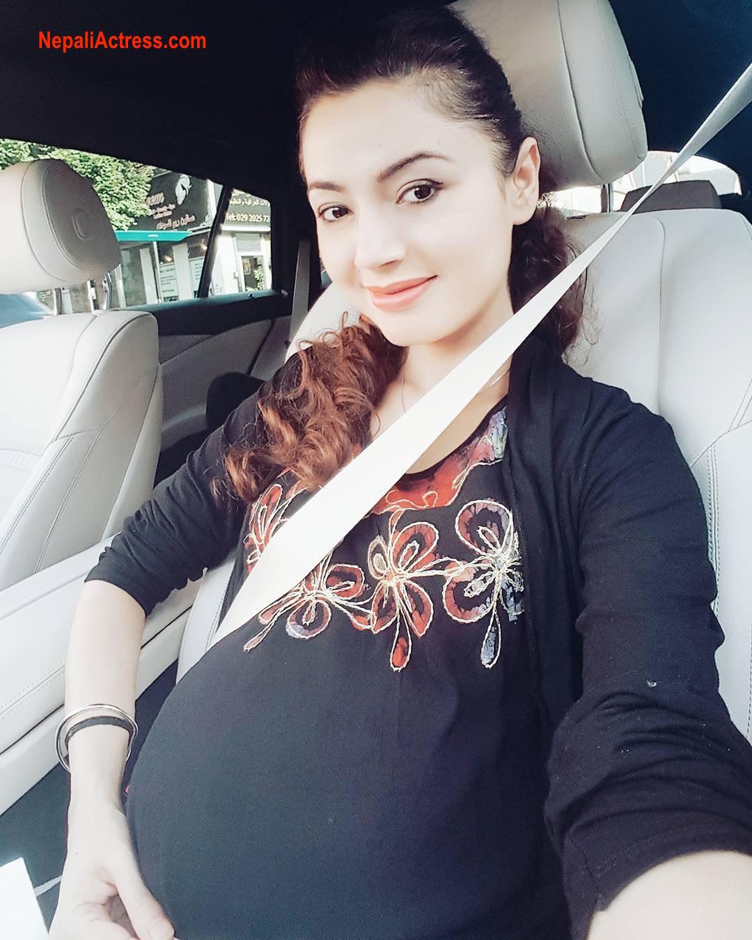 Simpal Khanal pregnant