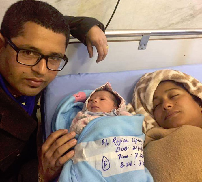 rejina-upreti-and-suraj-daughter